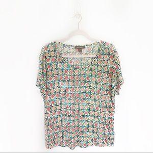 Tommy Bahama Linen Printed Short Sleeve T-Shirt